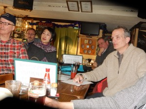 WiK treasurer, Paul Carty, with other members of the audience