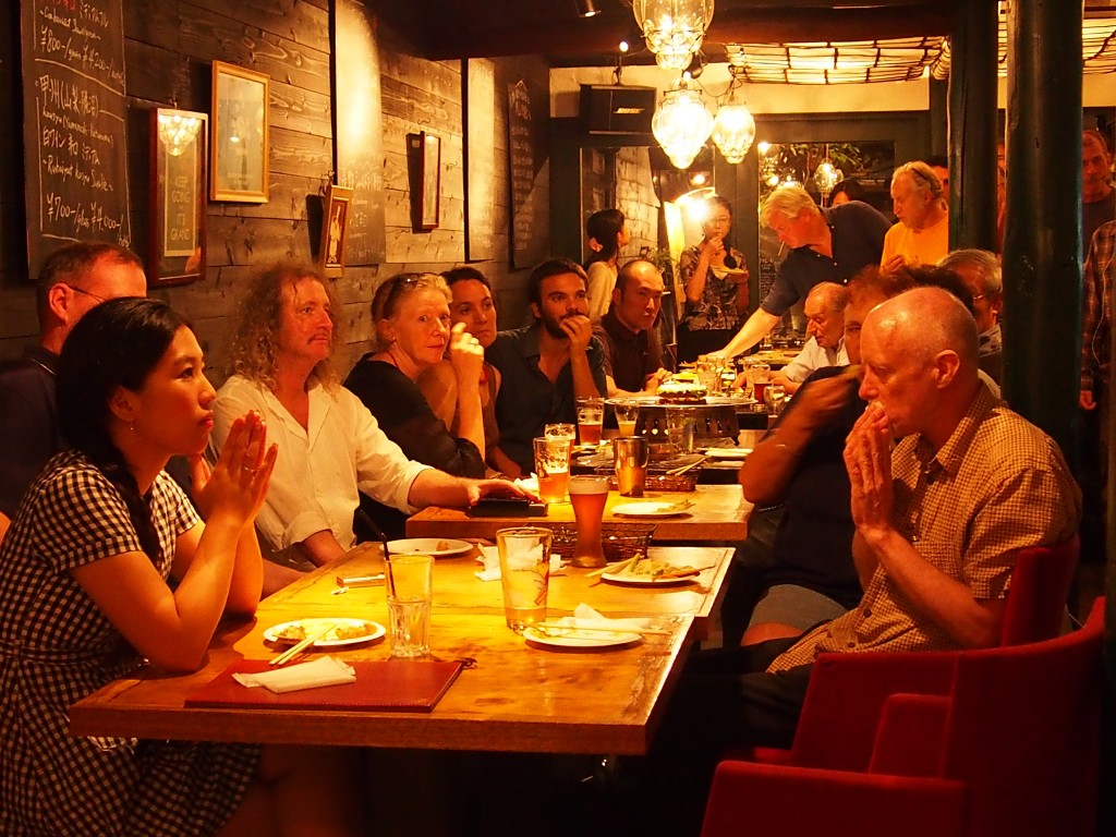 Book launch for Dougill's book at Tadg's Bar in 2014