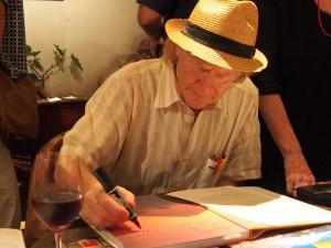 John Dougill signing Japan's World Heritage Sites