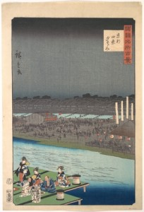 The son-in-law of Hiroshige, known as Hiroshige II, also painted the scene in 1860